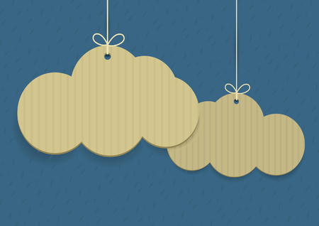 label tag: Vector clouds shaped shopping tags on textured background Illustration