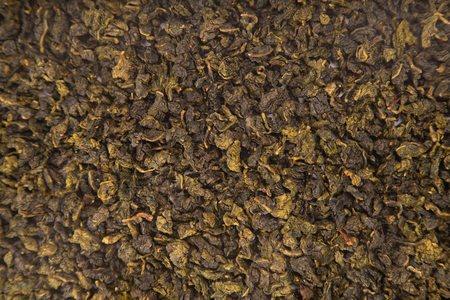 oolong: Texture of Tie Guan Yin Oolong tea, top view Stock Photo