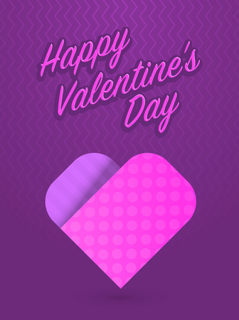 Vector greeting card with cute hearts for Saint Valentines Day. Иллюстрация