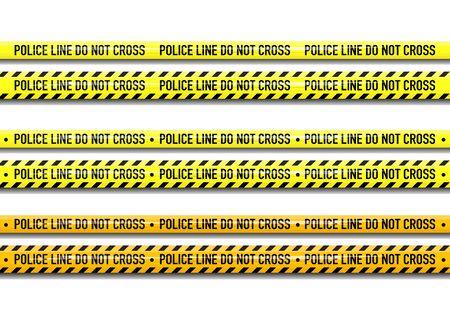 Vector Police line do not cross tape design isolated on white background