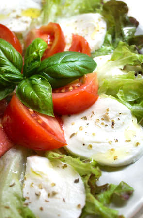 updated: Caprese salad Stock Photo