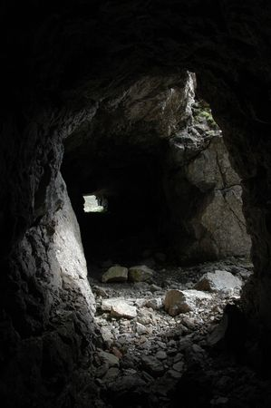 trench dug in the mountain photo