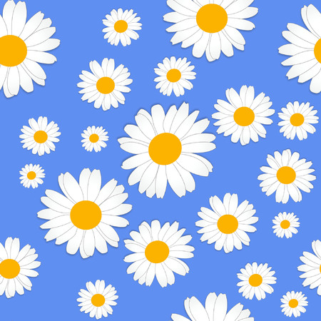 Daisy flower pattern Stock Illustratie