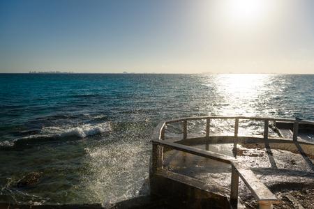 Sea pier on the island of Mujeres. Mexico. ISLA MUJERES,