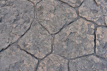 pierre de texture argile de couleur jaune, dalles de pavage jaune Banque d'images