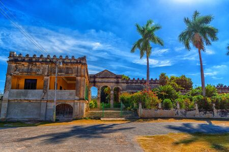Ancient Hacienda and the Museum of Yaxcopoil. Mexico. Stok Fotoğraf - 128201283