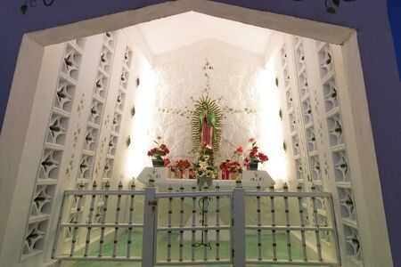 The altar of the Virgin Mary in the Catholic Church. Mexico