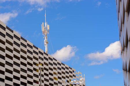 Modern building shopping center in Cancun
