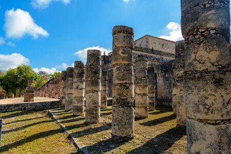 Ruins of the ancient Mayan civilization in Chichen Itza.