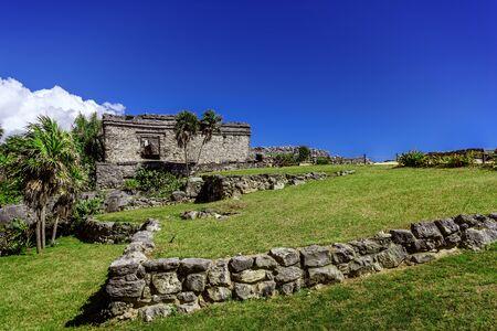 Ruins of Tulum on the Caribbean coast. Mexico. Stock fotó