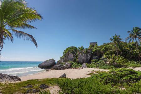 Ruins of Tulum on the Caribbean coast. Mexico.