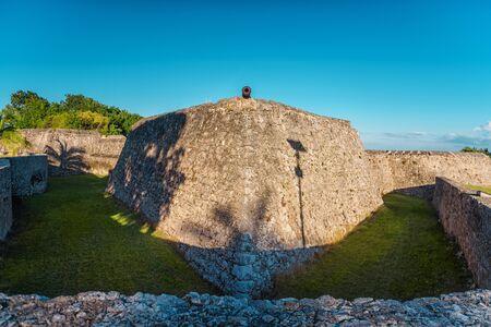 The fort of San Felipe in Bacalar Lagoon Mexico