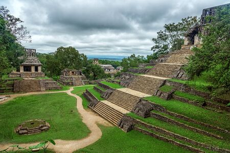 The ruins of the ancient city of Palenque. Mexico.