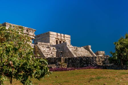 Ruins of Tulum on the Caribbean coast. Mexico. Фото со стока