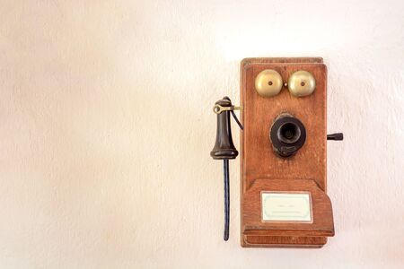 Antique English wall phone early 20th century.