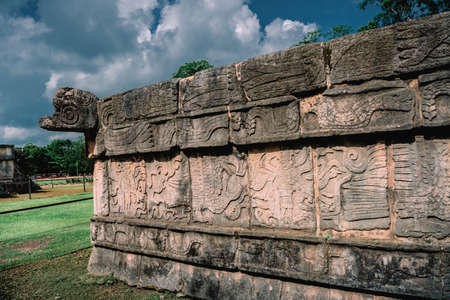 Ruins of the ancient Mayan civilization in Chichen Itza.