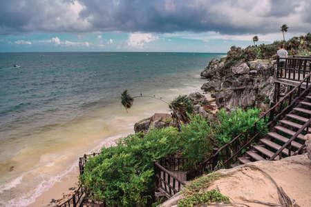 Ruins of Tulum on the Caribbean coast.
