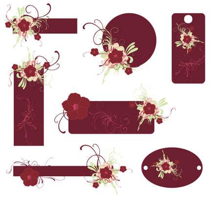 Conjunto de cuadros decorativos con motivos florales
