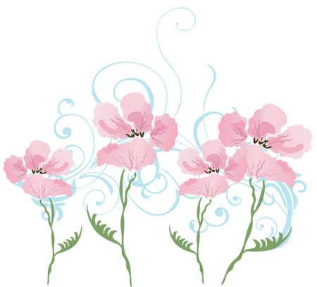 Abbildung der ein floral background