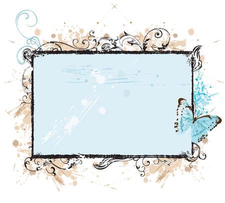 Illustration of a retro frame Vector Illustration