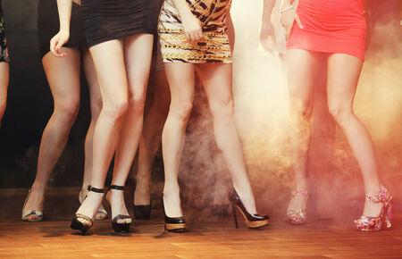 sex symbol: Clubbing Women Stock Photo