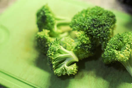 Fresh broccoli florets, green vegetable