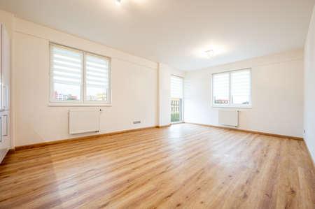 Empty room in flat, light, space. Reklamní fotografie