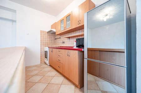 New kitchen cornet in flat appartment. Modern interior. Foto de archivo