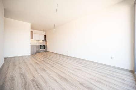Empty room in flat appartment, light, space. Reklamní fotografie