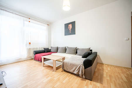Room in a small apartment.