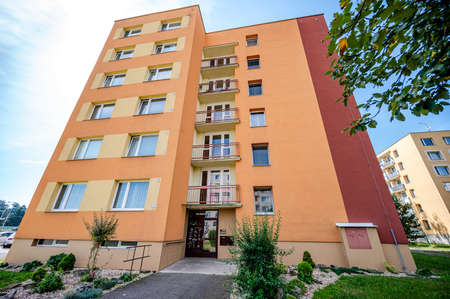 New building, architecture, tenement house. Real estate photo. Imagens
