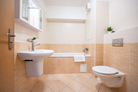 A bathroom restroom in an apartment. Standard-Bild