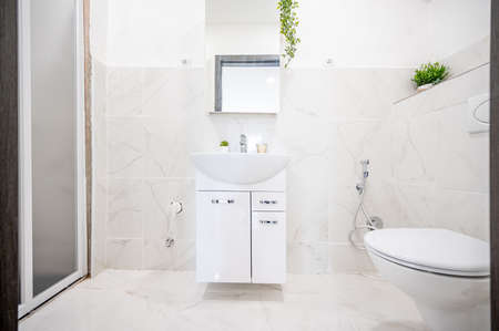 A renovated bathroom in a flat.