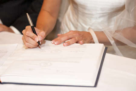 wedding signature Stock Photo