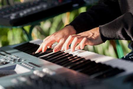 musician sounds piano Standard-Bild