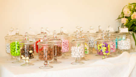 color candy for a wedding