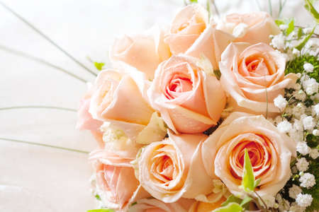 beautiful bouquet of roses of the bride