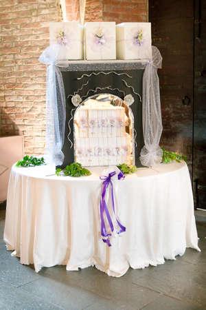 beautiful wedding favor for guest Standard-Bild