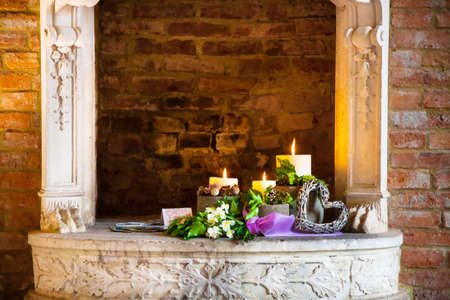 incandescence: vases of candles on the table