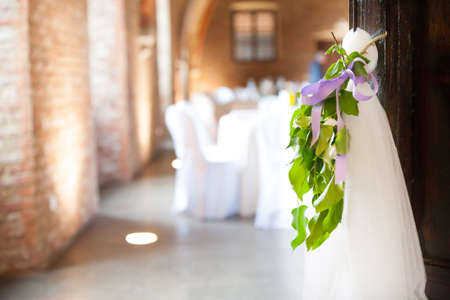 detail decor for a party or wedding reception Stock Photo