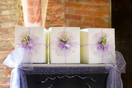 beautiful wedding favor for guest Stock Photo