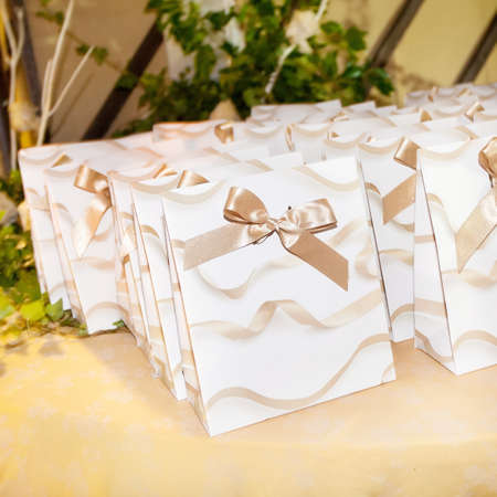 favor: beautiful wedding favor for guest Stock Photo