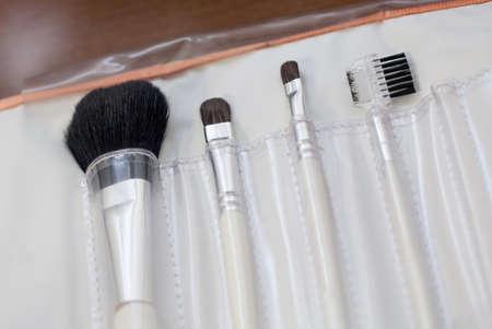 make up brushes: Professional make up brushes isolated