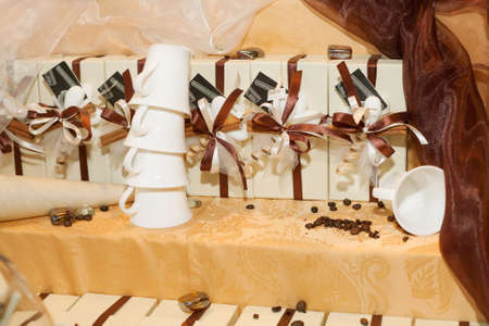 beautiful wedding gifts for guest Stock Photo