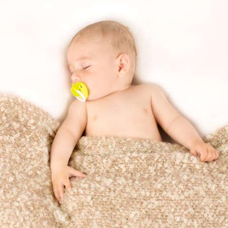portrait of the infant who sleeps