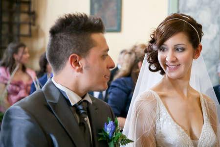 Detail der Ehegatten w?hrend der Hochzeit Standard-Bild - 21084658