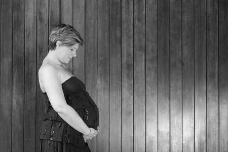 pregnant woman outdoor -pregnant belly photo