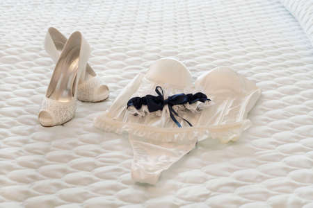 bride lingerie Standard-Bild