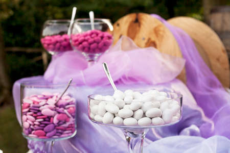 sugared almonds for a wedding