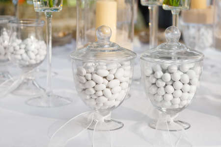 favor: sugared almonds for a wedding